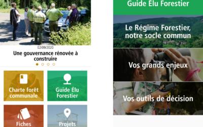 Le guide de l'élu forestier, l'appli dédiée à la gestion forestière